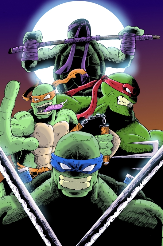 tortues ninja illustration alvin manga